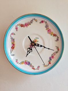 Summer roses and turquoise Vintage China Plate by LaviniasTeaParty, £25.00