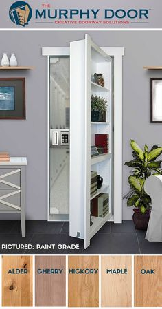 Murphy Doors Are Available In Six Wood Options. Here Is Our Flush Mount Door  In
