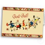 Christmas God Jul - Scandinavian Folk Dancers Card