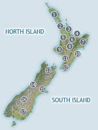 New Zealand Road Trips - NZ scenic road journeys, driving routes