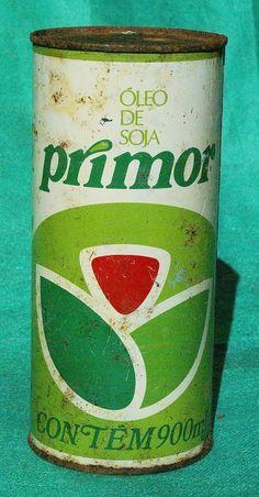 Lata Antiga De Óleo De Soja Primor 50 Anos (cilindrica) - R$ 35,00 no MercadoLivre