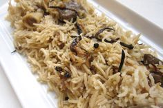 Aromatic Rice Pilaf: Yakhni Pulao in the Pakistani / Afghan Manner from the food blog www.thespicespoon... [an excellently written blog]