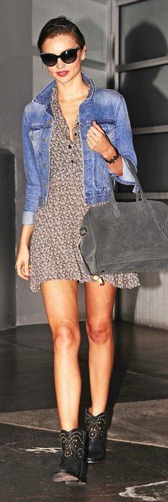 Miranda Kerr: Sunglasses – Chanel  Shoes – Isabel Marant  Purse – Balmain Pierre  Dress – Balmain
