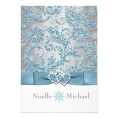 Winter Wonderland Joined Hearts Wedding Invitations that are shiny and bright and oh so beautiful for your blue winter wedding. Christmas Wedding Invitations, Heart Wedding Invitations, Inexpensive Wedding Invitations, Bat Mitzvah Invitations, Pink Invitations, Invitations Online, Invitation Templates, Wedding Cards, Winter Wedding Receptions