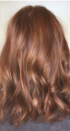 Auburn coppertone. Fall hair color