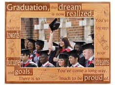 Convey your congratulations and pride for the high school or college graduate with a GiftWorksPlus graduation picture frame – it makes the best graduation gift! Best Graduation Gifts, Graduation Celebration, College Graduation, Graduation Picture Frames, Graduation Pictures, Frame Relay, Congratulations To You, First Step, High School
