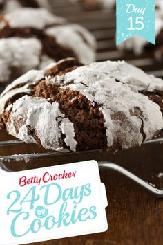 "24 Days of Cookies: Day 15  ""Love love love these! A childhood favorite - chewy in the middle and deliciously chocolate-y!""  #MakeMerry"