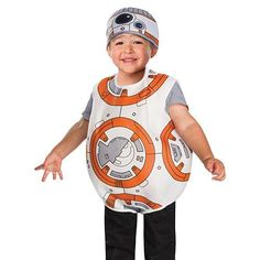 Dress your littlest Star Wars fan in our Star Wars 7 BB8 Toddler Costume for some trick-or-treating fun! This costume features a…