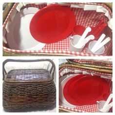 The basket is in good condition, but there is paint loss on the handle and rim, see pictures. Picnic Baskets For Sale, Wicker Picnic Basket, Large Baskets, Picnic Games, Selling On Ebay, Picnics, Handle, Paint, Picture Wall