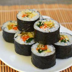 How To Make Gimbap: Korean Seaweed and Rice Rolls