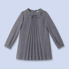 Robes à manches longues GRIS ANTHRACITE Fille - Vêtement Enfant - Jacadi  Paris Mode Fillette, bee20f630d7