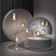 This is a beautiful pendant lamp designed by Lee Broom. This lamp is made of Carrara marble in a lead crystal vessel. The light illuminated trough this marble Large Pendant Lighting, Glass Pendant Light, Pendant Lamps, Pendant Lights, Pendants, Modern Lighting, Lighting Design, Lighting Ideas, Room Lights