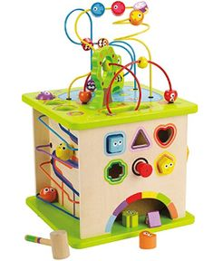 Hape - Country Critters Play CubeCountry Critters Multi Activity Toddler Play Cube by Hape will amaze you and your little one with its totally cool 5 sides of developmental fun! This interactive play cube brings multiple levels of manipulative fun for the Toddler Play, Toddler Gifts, Baby Play, Baby Gifts, Toddler Daycare, Kids Gifts, Toys For Little Kids, Toys For Boys, Kids Toys