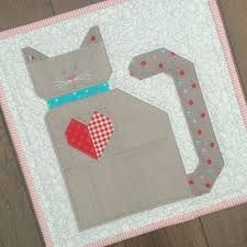 Image result for paper pieced cat quilt pattern