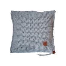 Ručně pletený polštář 002 šedý 50x50 cm