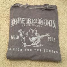 grey true religion vneck lightweight grey true religion vneck. goes with everything. minor polling still in great condition True Religion Tops Tees - Long Sleeve