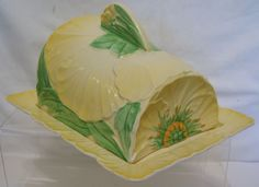 Carlton Ware covered butter or cheese dish.