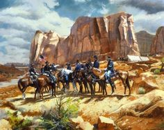 """Change of order"" American Indian Wars, American Civil War, American History, Cowboy Art, Western Cowboy, Native American Models, Kinkade Paintings, Westerns, Cowboy Pictures"