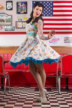 Miss Pin-up Hungary presents: photo: Kopasz zsolt model: Stampfné Timi Hair: Marietta Stugel make-up: Szabados Edina Thanx: Sunny Diner Budapest cupcake rockabilly dress