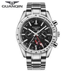 US $72.60 - Watches Men 2016 top brand luxury GUANQIN Full Steel Waterproof Wristwatch Automatic Mechanical Movement Men Wrist Watch clock