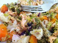 Quinoa, salmó i verduretes