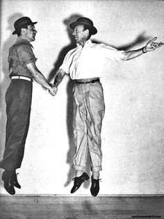 Gene Kelly & Fred Astaire. Gene Kelly was masculine and sexy. Fred Astaire was an elegant gentleman. They both had two totally different styles, yet complimented each other. They were man enough to dance together and no one would accuse them of being anything but GREAT DANCERS.