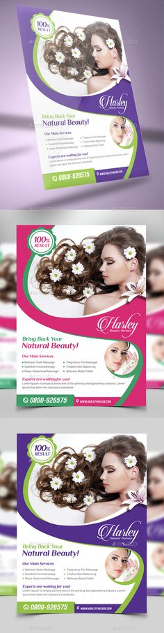 Spa of Tranquility Poster on Behance SPA ad\/ flyer Pinterest - hair salon flyer template