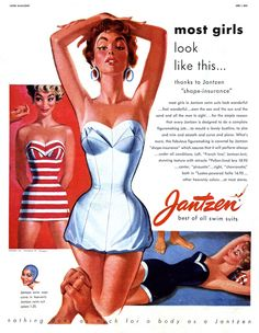 There was so much class and so much style in the 50s and 60s.  Pete Hawley for Jantzen.