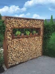 Znalezione obrazy dla zapytania sichtschutz mit brennholz
