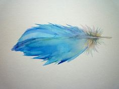 Watercolor feather, tattoo idea