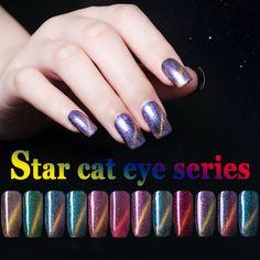 12 Colores de Ojos de Gato Magnético Esmalte de Uñas de Gel UV LED Gel laca 10 ML Gel Lak Vernis Semi Permanente UV Nail Art Nail barniz