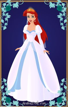 The Little Mermaid's wedding dress. . .poofy shoulders are right out, but the rest looks nice.