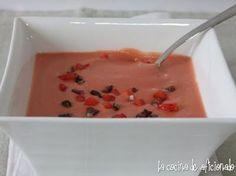 Receta Postre : Salmorejo de fresas por La cocina de aficionado