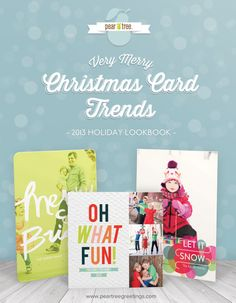 #peartreegreetings lookbook to find the Christmas card trends that you like best! #Christmascards #holidaycards