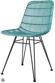 bol.com | Hkliving Rotan stoel - Oceaan groen | Wonen