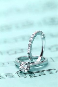 Gorgeous diamond engagement and wedding rings
