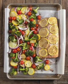 One-Pan Roasted Salmon and Vegetables