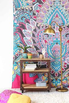Amazing tapestry from Urban Outfitters. Love this one! Magical Thinking Paisley Floral Tapestry - Urban Outfitters