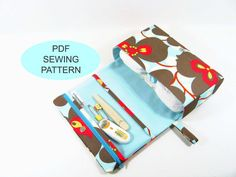 This PDF sewing tutorial and pattern is a great diy sewing project to make your own clutch.  This digital file has total of 17 pages for instant download, it includes computer drawn patterns and step by step detail instructions with 53 pictures showing how every step looks.  Skill Level: advanced beginners. This diaper clutch is very unique and practical. It has a clear zipper pouch for storing diaper creams or any travel-size baby products. The main compartment is roomy and big enough for a…