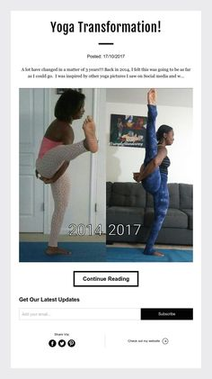 Yoga Transformation! Here is a progress picture of my Bird of Paradise/Svargadvijasana. Stay inspired. Stay motivated.