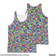 Lots-of-Circles Pattern Dots Design, Circle Pattern, Printed Tank Tops, Color Patterns, Circles, Colorful, Women, Fashion, Moda