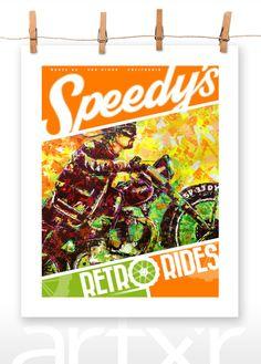 SPEEDY'S RETRO RIDES Volume 03 ... 16x20 Poster Print by artxr