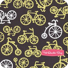 Citron+Gray+Citron+Bicycles+Yardage+SKU#+CX4892-CTRN-D