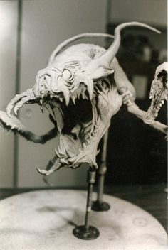 James Kagel, fierce monster concept sculpture
