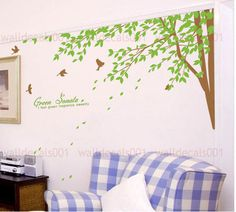 Creating a natural nursery sanctuary: Etsy Wall decals wall stickers tree decals  - Green Sonata  #PoshTotsNursery