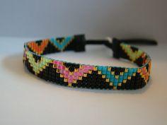 MODELE FLORE - BRACELET TISSE PERLES MIYUKI : Bracelet par bee-ya-creations