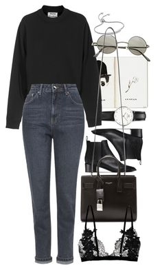 """Untitled #8730"" by nikka-phillips ❤ liked on Polyvore featuring Daniel Wellington, Acne Studios, Topshop, Ardene, Monica Vinader and Yves Saint Laurent"