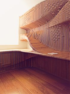 CNC-milled desk in London home | Synthesis Design and Architecture