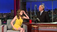 David Letterman - Anna Kendrick's Song and Cup Trick, via YouTube.