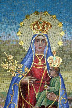 Virgin Mary & Jesus Mosaic - Holy Face Monastery, New Jersey
